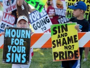 """""""Християни"""" протестират в САЩ."""