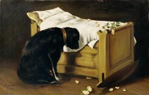 """""""Куче тъжи за своя млад стопанин"""" от А. Арчър (http://j.mp/X7Ucb1)"""